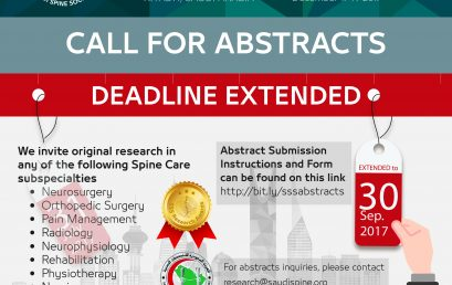Call For Abstracts Deadline Extended