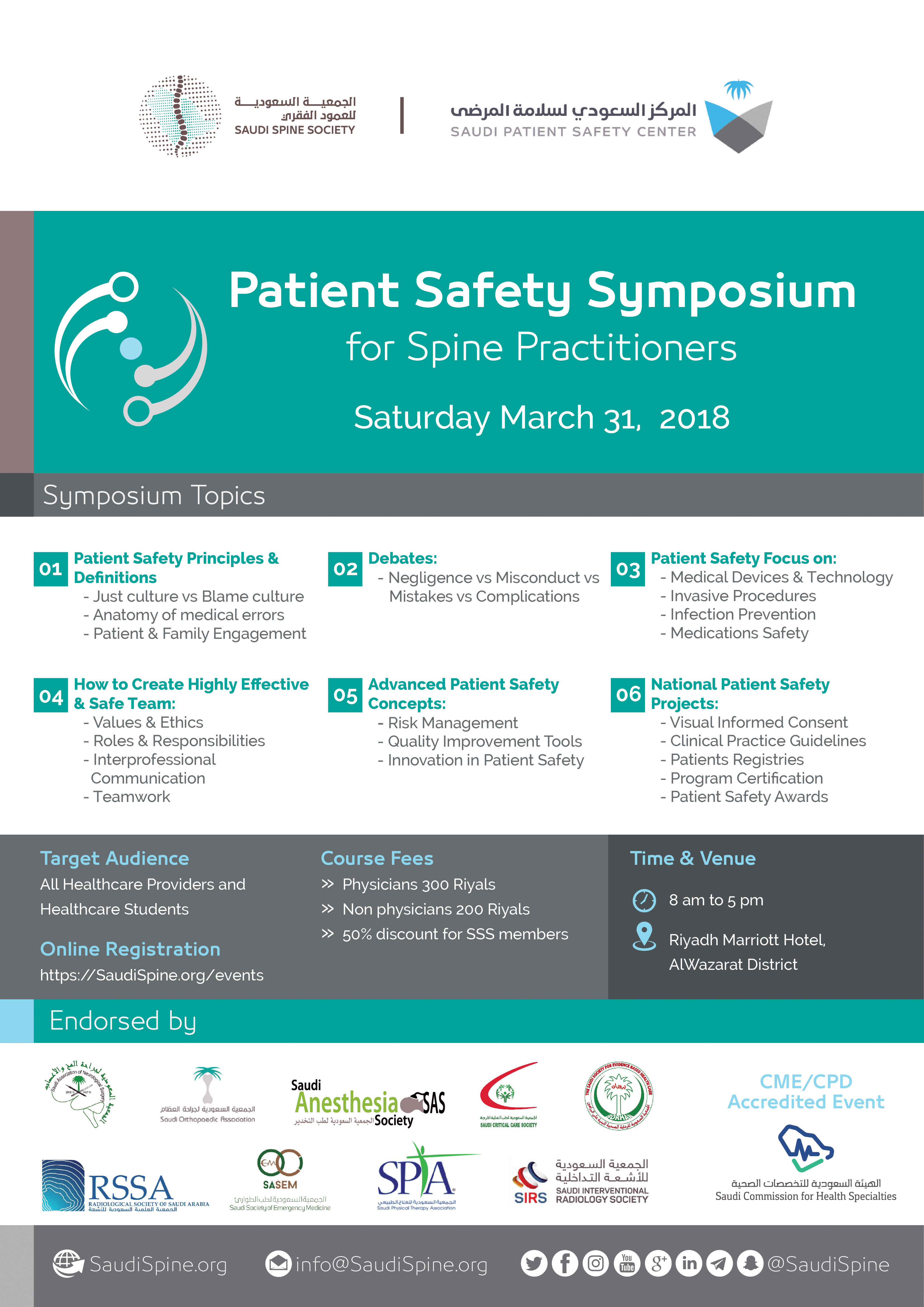 Patient Safety Symposium For Spine Practitioners Recommendations