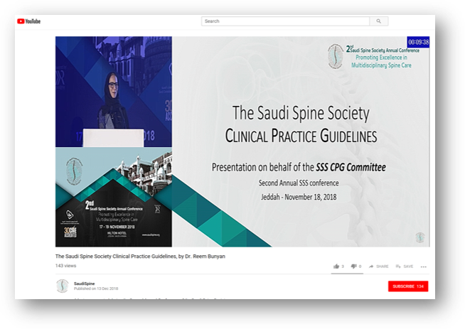 Saudi Spine Society Clinical Practice Guidelines