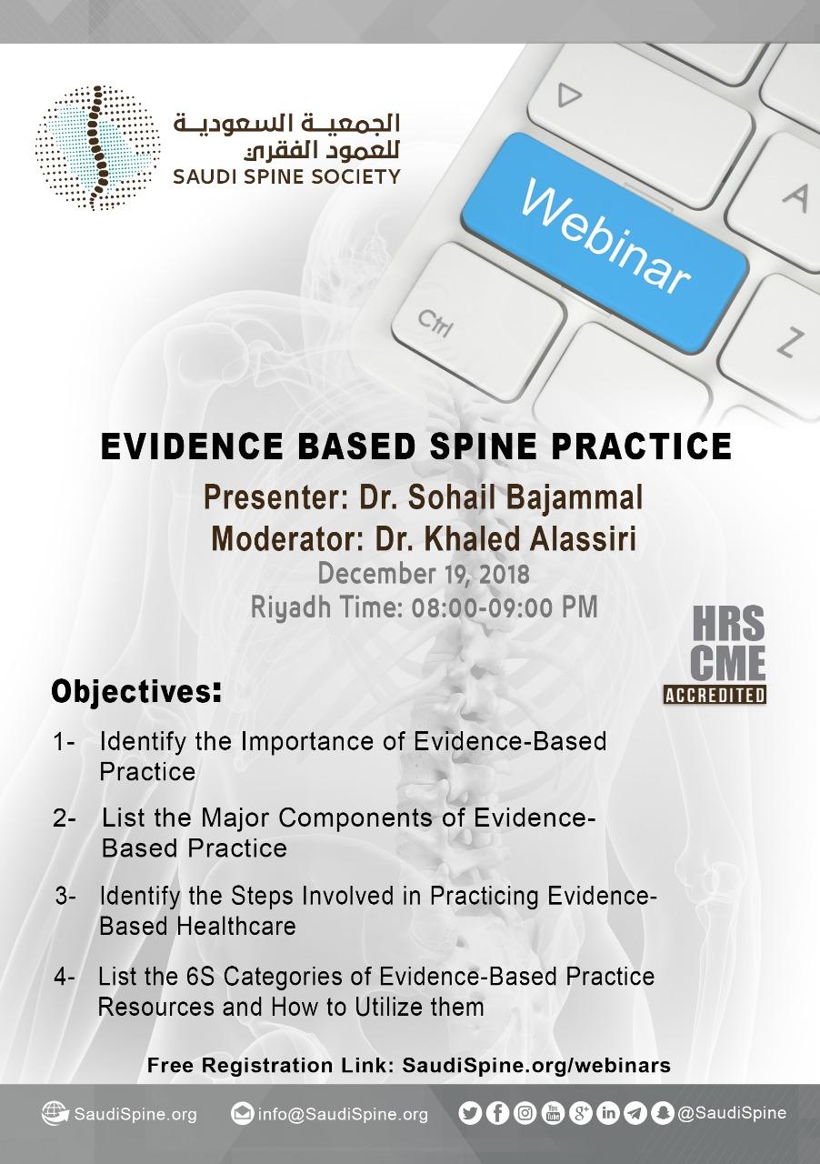 SSS Webinar: Evidence Based Spine Practice