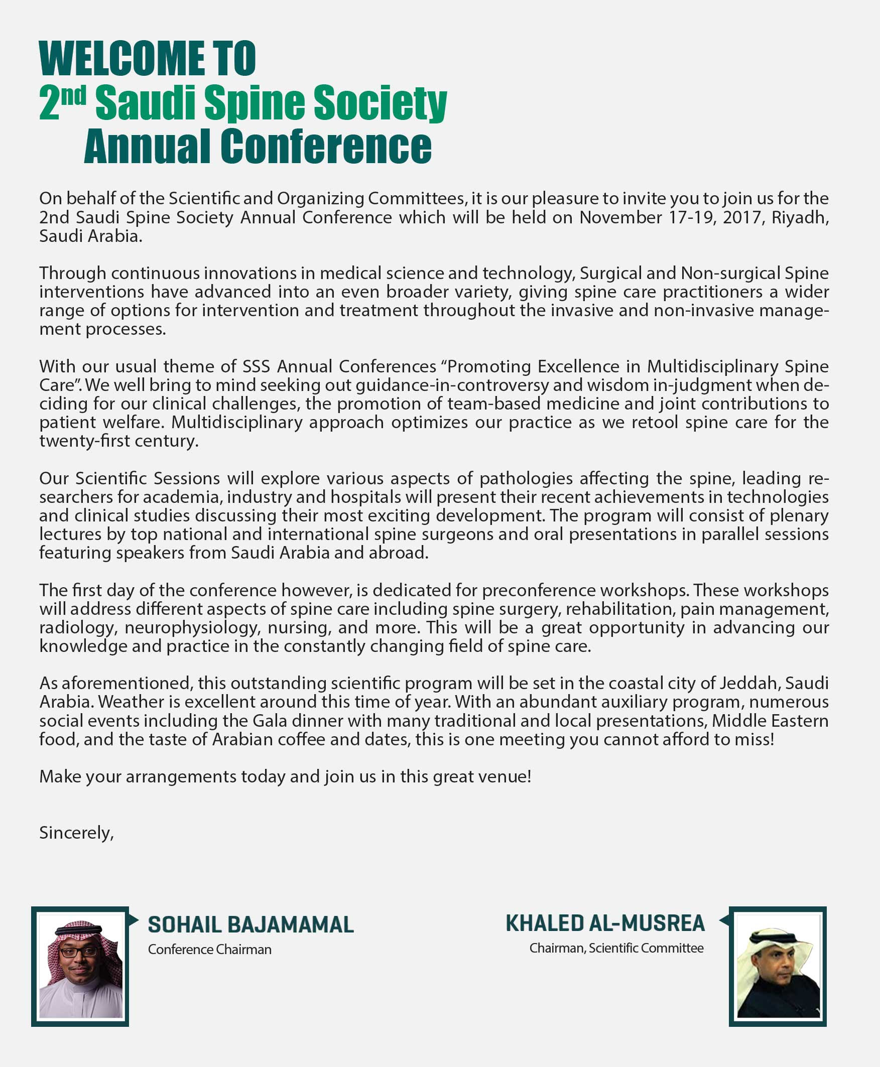 2nd Saudi Spine Society Annual Conference | Saudi Spine Society