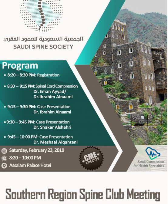 4th Southern Region Spine Club Meeting