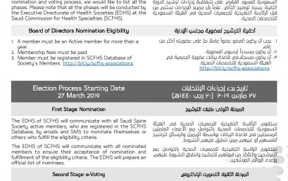 Saudi Spine Society Board of Directors Second Term Nomination